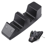 USB Dual Charging Dock Charger Station with 2 x 1200mAh Battery Packs for Xbox One(Black)