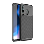 Carbon Fiber Texture Shockproof TPU Case for Galaxy A8s (Black)