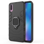 PC + TPU Shockproof Protective Case with Magnetic Ring Holder for Xiaomi Mi 9 (Black)