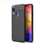 Litchi Texture TPU Shockproof Case for Xiamo Redmi Note 7 (Black)