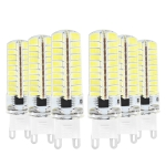 6PCS YWXLight G9 5W AC 220-240V 80LEDs SMD 5730 Energy-saving LED Corn Light (Cold White)