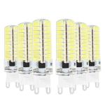 6PCS YWXLight G9 5W AC 220-240V 80LEDs SMD 5730 Energy-saving LED Corn Light (Cold White)
