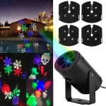 YWXLight RGB 3W 4 Card IP65 Waterproof Projection Lamp US Plug
