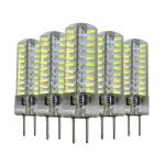 5 PCS YWXLight GY6.35 5W 80LEDs SMD 4014 Energy Saving LED Silicone Lamp (Cold White)
