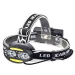 YWXLight waterproof XML-T6 COB 8LED headlight outdoor headlights USB charging rechargeable headlights red light