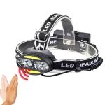 YWXLight waterproof XML-T6 COB 6LED headlight outdoor headlights USB charging rechargeable headlights red light