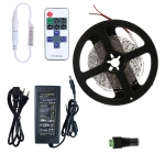 YWXLight Dimmable Light Strip Kit, 5m LED Ribbon, 11key Remote Control LED Strip Lamp 300LEDs EU Plug (Green)