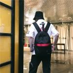 Double Shoulders School Bag Travel Backpack Bags (Black)