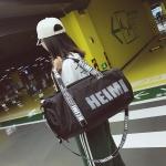Shoulder Travel Bag Leisure Sport Handbag with Shoes Socket (Black)