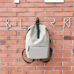 Double Shoulders School Bag Travel Backpack Bag (Gray)