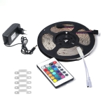 YWXLLight EU Plug 5M 2835 SMD Waterproof Light With 24 Key Remote Control Plug Accessories RGB LED Light Strip