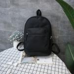 Oxford Double Shoulders School Bag Travel Backpack Bag (Black)