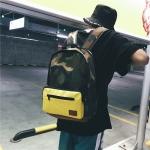 2 in 1 Double Shoulders School Bag Travel Backpack Bag (Camouflage)