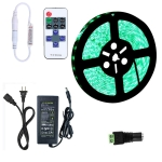 YWXLLight Dimmable Light Strip Kit, SMD 5050 5m LED Ribbon, Waterproof for Indoor , 11key Remote Control LED Strip Lamp 300LEDs US Plug (Green)