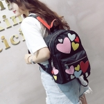 Hearts Pattern Double Shoulders School Bag Travel Backpack Bag (Colour)