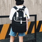 Nylon Double Shoulders School Bag Travel Backpack Bag