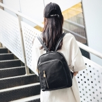 Multi-function Anti-theft Waterproof Casual Fashion Ladies Backpack Bag (Black)
