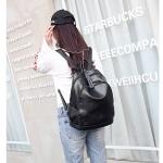 Multi-function Waterproof Casual Fashion Ladies Backpack Crossbody Bag (Black)