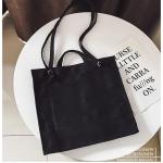 Casual Shoulder Bag Ladies Handbag Bags (Black)