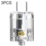 3 PCS Sikary OG Disposable Sub Ohm Tank, 2ml, FDA Edition (Transparent color)