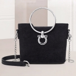 Fashion Bucket Style Multifunctional Single Shoulder Bag Ladies Handbag Chain Bag (Black)