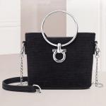Fashion Bucket Style Multifunctional Single Shoulder Bag Ladies Handbag Chain Bag (Black)