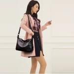 Fashion Multifunctional Single Shoulder Bag Ladies Handbag (Black)