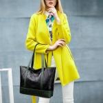 Casual Contrast Color Single Shoulder Bag Ladies Handbag (Green)