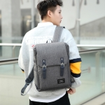 Oxford Cloth Double Shoulders School Bag Travel Backpack Bag (Gray)
