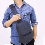 Oxford Outdoor Pocket Shoulder Bag Chest Messenger Bag (Grey)