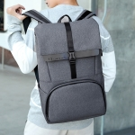 Business Computer Bag Single & Double Shoulders Bag Messenger Bag with USB Charging Hole (Gray)