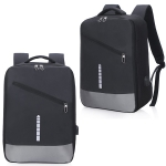 Multi-Function Oxford Portable Casual Double Shoulders Bag with Earphone Line Hole & USB Charging (Black)