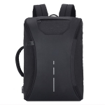 Fully Open Style Travel Bag Double Shoulders Bag Messenger Bag with USB Charging Hole (Black)