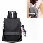 Oxford Cloth Double Shoulder Strap Single & Double Shoulder Bag Messenger Bag with Kitten Pendant (Black)