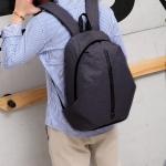 Multi-Function Nylon Portable Casual Double Shoulders Bag (Dark Grey)