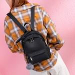 Bow-knot Casual Double Shoulder Bag Ladies Handbag Messenger Bag (Black)