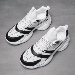 PU Breathable Thick Bottom Sports Casual Shoes for Men (Color:Black Size: + 39)