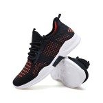 Outdoor Casual Breathable Mesh Sport Shoes (Color:Black Orange Size:39)