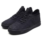 Fashion Suede Breathable Casual Plus Velvet Warm Shoes (Color:Black Size:39)