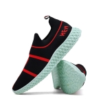 Low-cut Spring and Autumn Breathable Shoes for Men (Color:Black Red Size:39)