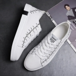 Round Head Spring and Autumn Outdoor Casual Shoes for Men (Color:White Size:39)