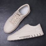 Round Head Breathable Casual Shoes (Color:Beige Size:39)