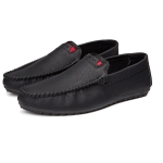 Lightweight and Comfortable Round Head Peas Shoes for Men (Color:Black Size:39)