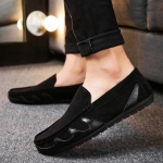Comfortable Lightweight Round Head Casual Peas Shoes (Color:Black Size:39)