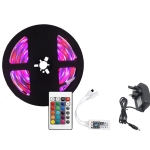 YWXLight 5M 3528SMD RGB IP67 Waterproof LED Light with 24 Keys WiFi Controller, 3A, UK Plug