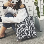 Animal Grain Fashion Casual Plush Single Shoulder Bag Ladies Handbag (Zebra)