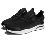 PU Leather Breathable Low-top Sports Casual Shoes for Men (Color:Black Size:39)