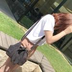 Lace Mini Shell Bag Shoulder Bag Messenger Bag Ladies Handbag (Black)