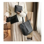 4 in 1 Casual PU Shoulder Bag Ladies Handbag Messenger Bag with Tassel