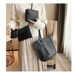 4 in 1 Casual PU Shoulder Bag Ladies Handbag Messenger Bag with Tassel